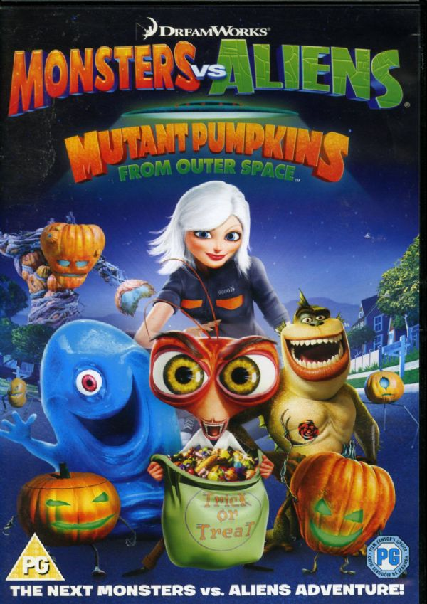Monsters vs Aliens - Mutant Pumpkins From Outer Space (DVD 2010) USED